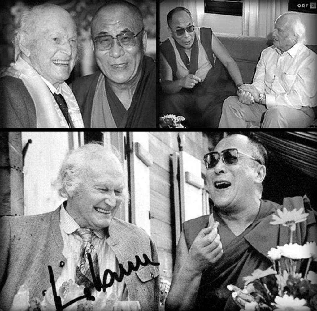 Foto Heinrich y Dalai Lama Tibet